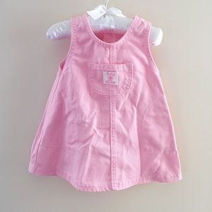 Vintage OshKosh Pink Denim Jumper 12 Months USA